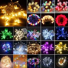 XMAS Tree LED Battery Operated Fairy Lights Christmas Wedding Home Garden Decor