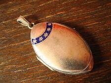 romantisches Jugendstil Medallion Stern Sterne Emaille Art Nouveau Locket enamel