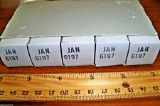 Sleeve of 5 Strong NOS GE Gray Plate O Getter JAN 6197 / 6CL6 Tubes