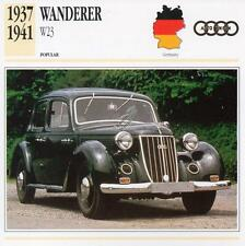 1937-1941 WANDERER W23 Classic Car Photograph / Information Maxi Card
