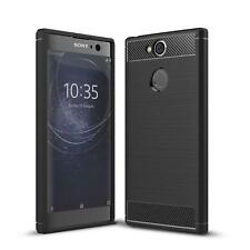 Sony Xperia XA2 Cover Carbon Silicone Protective Phone Cover Case Case