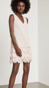 """BCBG Maxazria """"Addilyn"""" Bare Pink Eyelash Fringe Sheath Dress Women 6 NWT$298"""