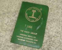 """RACO RAILROAD Mini Pocket Calendar 1966 Appointment Book GRISWOLD 2.75""""x4.25"""""""