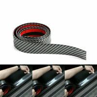 3CM 1M Car Sticker Carbon Fiber Rubber DIY Door Sill Protector Edge Guard Strip