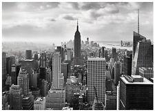368x254cm Giant Wall mural wallpaper decor New York City skyline black & white
