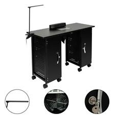 Manicure Nail Table Station Beauty Spa Salon Equipment Iron Frame Vented Black