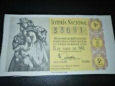 ESPAÑA DÉCIMO LOTERÍA NACIONAL 1960 SORTEO 18