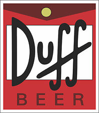 "Duff Beer   Alcohol Sticker - wall, window, vinyl sticker 5""x 4.4"""
