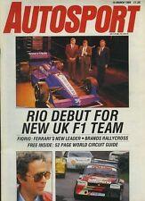 Autosport March 16th 1989 *Paul Warwick & Onyx F1*