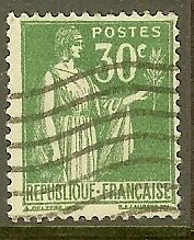 """FRANCE TIMBRE STAMP N°280 """"TYPE PAIX, 30 C VERT"""" OBLITERE TB"""