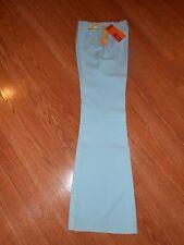 "Womens Vintage H Bar C Ranchwear Baby Blue 27"" waist Dress Pants Tomboy Stretch"