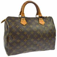 LOUIS VUITTON SPEEDY 30 HAND BAG MONOGRAM CANVAS LEATHER M41526 A44025e