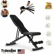 Dumbell Bench Sit Up Incline Decline AB Abdominal Workout Gym bench home