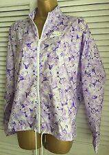 Women's Nike Shower Proof Jacket Lilac Floral Design Size L BNWT Spring