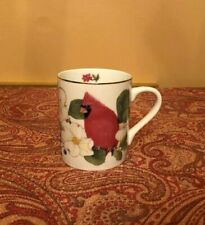 Vintage Cardinal coffee mug cup songbird collection Elizabeth Golz Rush Andrea