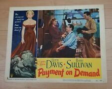 "Bette Davis Original Lobby Card, ""Payment On Demand"", #6, 1951"