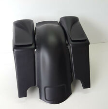 8'' Speaker Lids Stretched Saddlebags, Fender Overlay Dual Cutout Bagger Harley