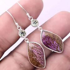 Silver Handmade Earrings Jewelry Ae20574 New listing Purpurite and Peridot 925 Sterling