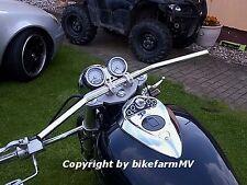 810 x Zoll CHROM Drag Bar SHORT Lenker Motorrad ABE Yamaha XV XVS 650 950 1100