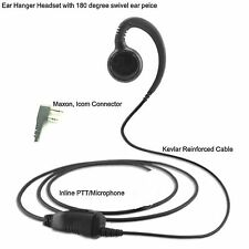 Earpiece for Icom IC-F12 IC-F22 Series Portable G Ear with Rotating Earpiece