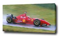 MICHAEL SCHUMACHER CANVAS PAINTING PRINT POSTER PHOTO ART F1 FORMULA 1 1996