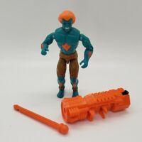 Vintage 1994 GI Joe Street Fighter BLANKA Figure w/ Missile Launcher Weapon Blue