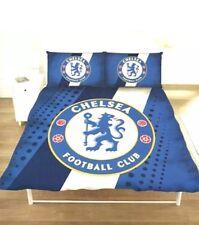 Chelsea FC Stripe Crest doppia set copripiumino trapunta biancheria da letto copertura di calcio