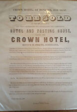 Crown Hotel, Penrith, Cumberland 17th June 1867 For Sale Poster