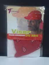 Tommy Series Du-Rag Cap With Visor - Red 1058