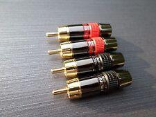 4 X MONSTER, Qualità Oro Placcato Spine Fono RCA audio