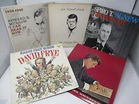 Lot of 5 Political Spoken Word LP Wholesale Nixon Kennedy Agnew Murrow