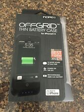 Incipio Offgrid Thin Battery case For iphone 5  BLACK  ( BRAND NEW )