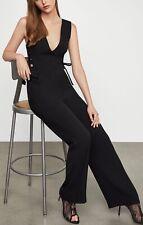 NWT BCBG MAX AZRIA Lace-up Jumpsuit Size Medium Black