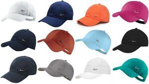 New Nike Men Metal Swoosh Cap Baseball Hat Nike Logo Adjustable Running  Mens