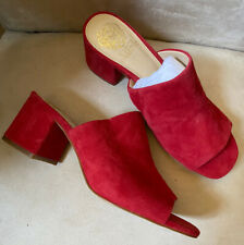New Vince Camuto Suede Slide Mules 8