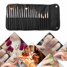 20pcs Nail Art Design Brushes Set Painting Dotting Pen Detailing Bundle Tool Kit