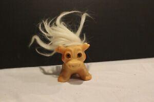 """1966 Vintage Original Thomas Dam Things Cow Bull goat Troll Doll 3"""" x 2.5"""""""
