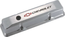 Proform 141-108 Small Block Chevy Tall Polished Aluminum Valve Covers Chevy Logo