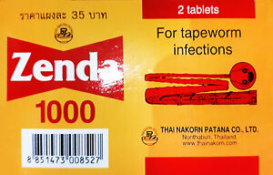 Zenda1000 for tapeworm infections 30 Tablets