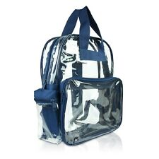 DALIX Clear Backpack School Pack See Through Bag in Navy Blue FREE SHIPPING