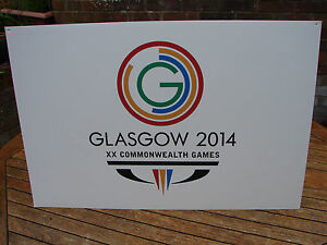 Commonwealth Games Glasgow 2014 Sign Medium Colour Wall Art Global Shipping