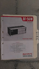 Sony 8f-56w service manual original repair book am fm transistor radio