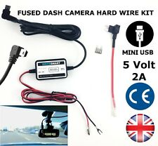In Car DVR Dash Cam Camera Hardwire Lead Kit 5v Mini L USB Fits Azdome GS63H 4K