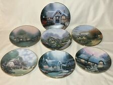 7 Thomas Kinkade Garden Cottages of England Decorative Collector's Plates 8 3/8""