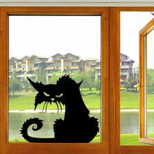 Halloween Terror Cat Shop Window Wall Stickers Home Decor Room Mural Decals Art