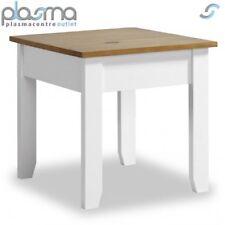 Valufurniture Ludlow Lamp Table White/Oak