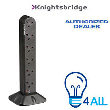 Knightsbridge 12GTOWER 12 Gang Surge Protected Tower Extension Socket 2mtr Lead