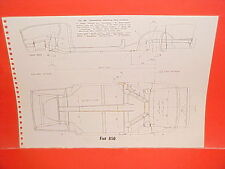 1969 FIAT 850 CONVERTIBLE RACER 124 SPIDER COUPE SEDAN FRAME DIMENSION CHART