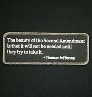 THE BEAUTY OF THE SECOND AMENDMENT TRY TO TAKE IT USA SWAT HOOK MORALE PATCH