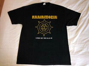 Rammstein Vintage Live in Concert 2011 Tour Shirt Till Lindemann Berlin Germany